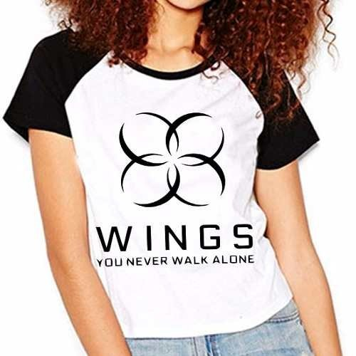 Camiseta Bangtan Boys Bts You Never Walk Alone Raglan Fem.