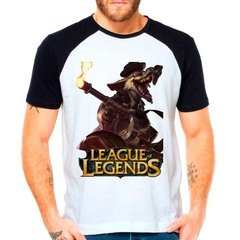 Camiseta League Of Legends Lol Twitch Mafioso Raglan Curta