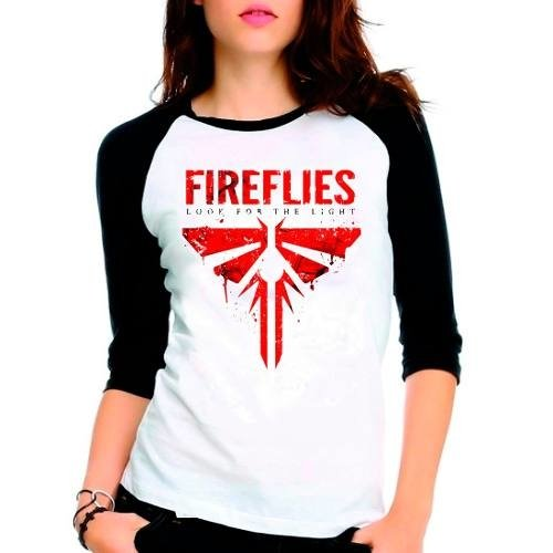 Camiseta The Last Of Us Fireflies Raglan Babylook 3/4