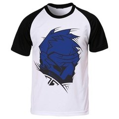 Camiseta Raglan Game Overwatch Personagem Soldier 76