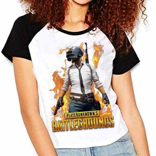 Camiseta Playerunknown's Battlegrounds Raglan Babylook