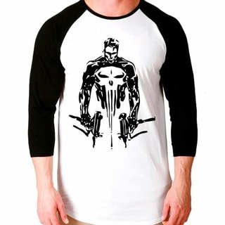 Camiseta The Punisher Justiceiro V2 Ragl...