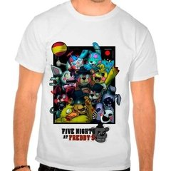 Camiseta Branca Game Five Nights At Freddy's