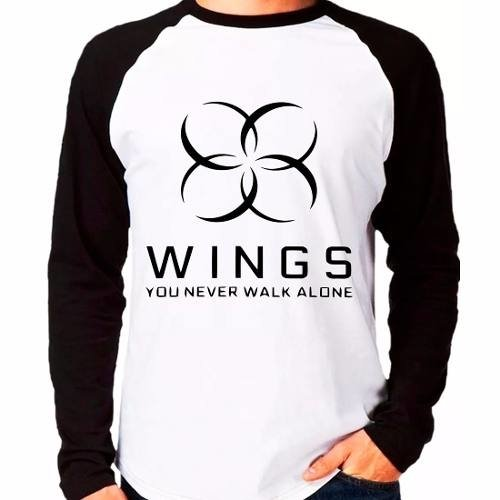 Camiseta Bangtan Boys Bts You Never Walk Alone Raglan Longa