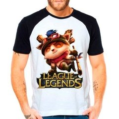 Camiseta Raglan League Of Legends Teemo Lol Top Lane