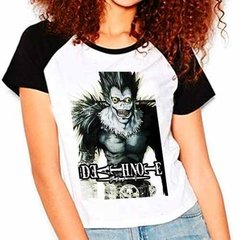 Camiseta Raglan Babylook Anime Death Note Ryuk