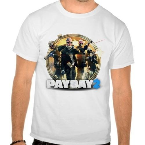 Camiseta Branca Pay Day 2 Payday2