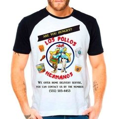 Camiseta Raglan Série Breaking Bad Los Pollos Hermanos
