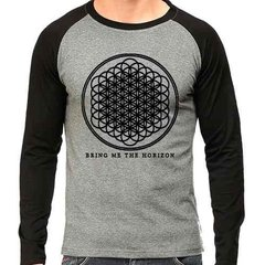 Camiseta Bring Me The Horizon Bmth Rock Raglan Mescla