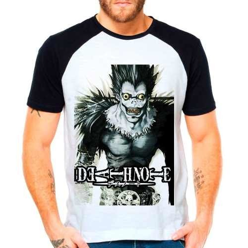 Camiseta Raglan Anime Death Note Shinigami Riuuku