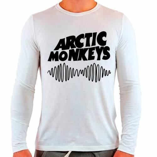 Camiseta Branca Longa Arctic Monkeys Rock