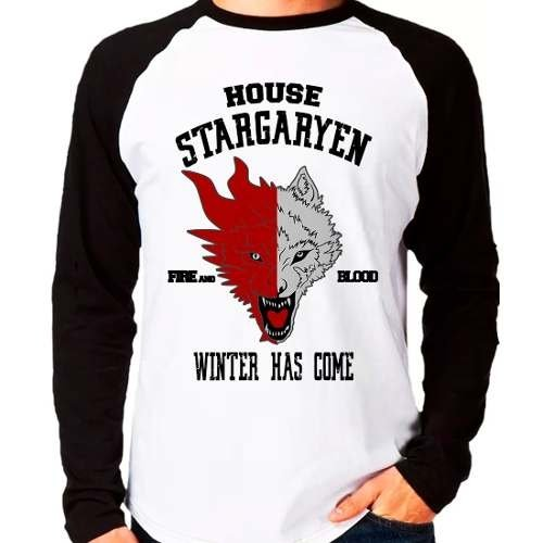 Camiseta Game Of Thrones Got Stargaryen Raglan Manga Longa