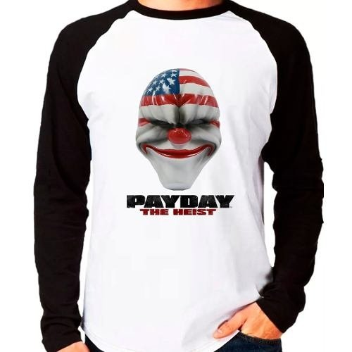 Camiseta Pay Day Payday The Heist Raglan Manga Longa