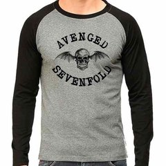 Camiseta Avenged Sevenfold Rock Raglan Mescla