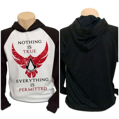 Casaco Blusa Moletom Assassins Creed Game Nothing Is True