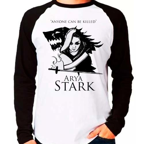 Camiseta Arya Stark Game Of Thrones Anyone Can Be Killed