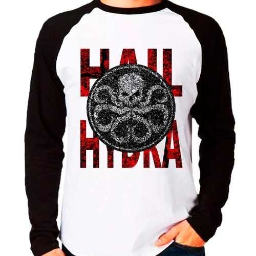 Camiseta Marvel Hail Hydra Agents Of Shield Raglan M. Longa