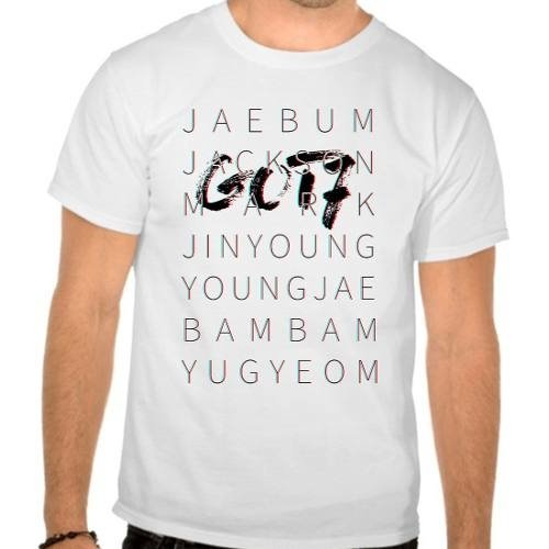 Camiseta Branca Got7 Integrantes Kpop