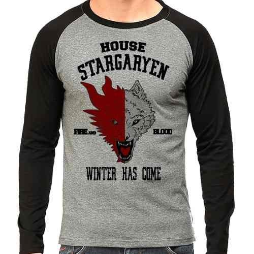 Camiseta Game Of Thrones Got Stargaryen Raglan Mescla