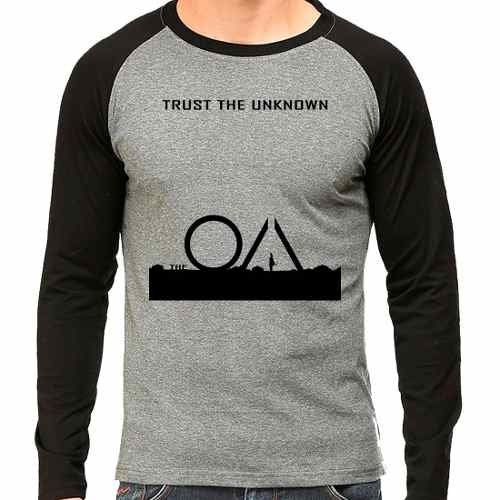 Camiseta The Oa Trust The Unknown Raglan Mescla