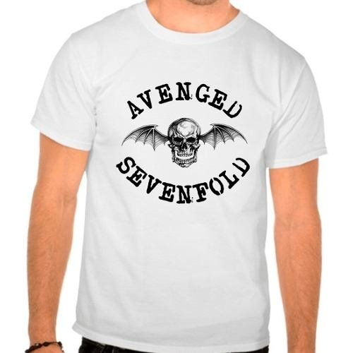 Camiseta Branca Avenged Sevenfold Rock