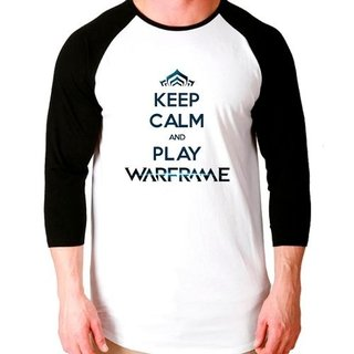 Camiseta Keep Calm Warframe Game Raglan...