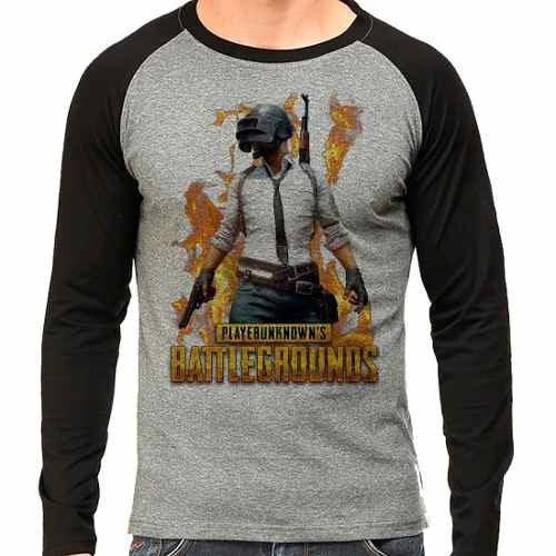 Camiseta Playerunknown's Battlegrounds Raglan Mescla
