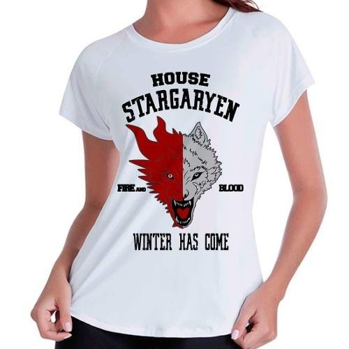 Camiseta Babylook Game Of Thrones Got Stargaryen