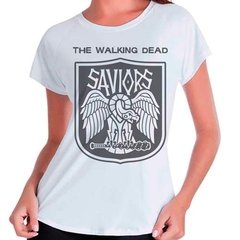 Camiseta The Walking Dead Saviors Twd Feminina Babylook
