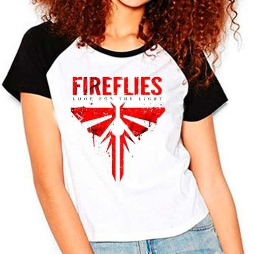 Camiseta The Last Of Us Fireflies Raglan Babylook