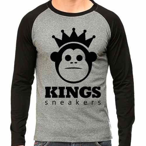 Camiseta Kings Sneakers Raglan Mescla