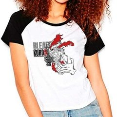 Camiseta Raglan Babylook Anime Bleach Hollow Ichigo