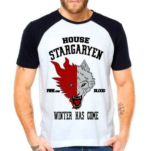 Camiseta Game Of Thrones Got Stargaryen Raglan Manga Curta