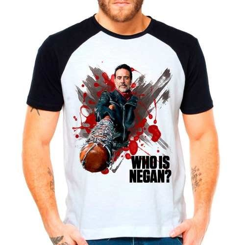 Camiseta Raglan Série The Walking Dead Twd Who Is Negan