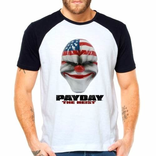 Camiseta Pay Day Payday The Heist Raglan Manga Curta