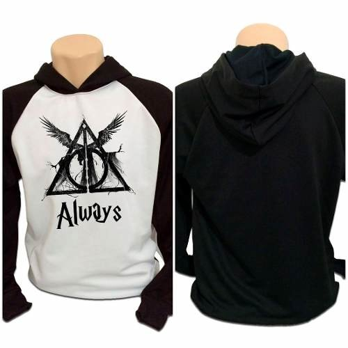 Casaco Blusa Moletom Harry Potter Reliquias Da Morte Always