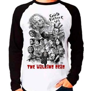 Camiseta Blusa Raglan Longa The Walking...