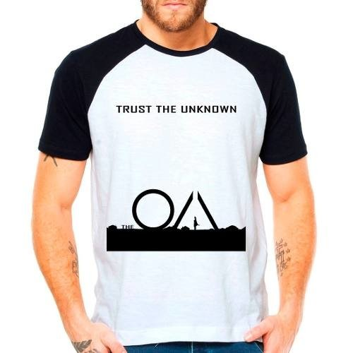 Camiseta Série The Oa Trust The Unknown Raglan Manga Curta