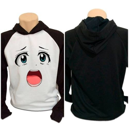 Casaco Blusa Moletom Anime Otaku Smile Face Cute
