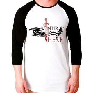 Camiseta Got Winter Is Here Raglan Manga...