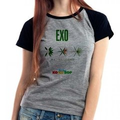 Camiseta Exo The War Kpop Babylook Mescla