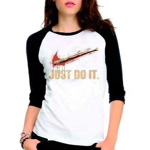 Camiseta Walking Dead Twd Lucile Just Do Raglan Babylook 3/4