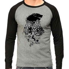 Camiseta Game Of Thrones Stark Lannister Raglan Mescla