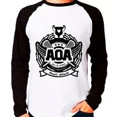 Camiseta Aoa Ace Of Angels Kpop Raglan Manga Longa