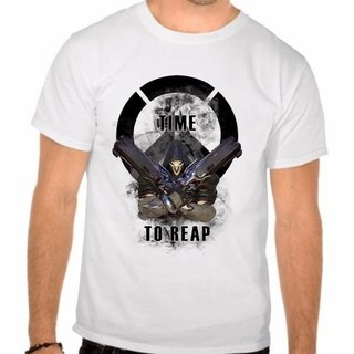 Camiseta Branca Over Watch Time To Reap