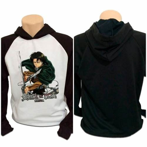 Casaco Blusa Moletom Attack On Titan Shingeki No Kyojin Levi