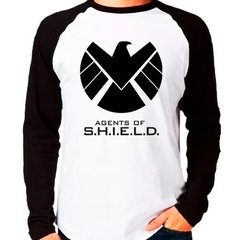 Camiseta Agents Of Shield Marvel Raglan Manga Longa