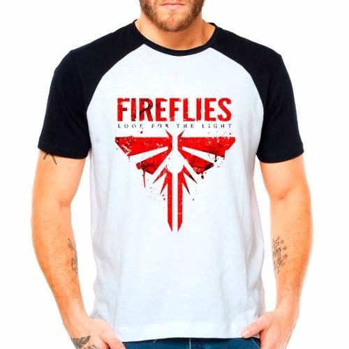Camiseta The Last Of Us Fireflies Raglan Manga Curta
