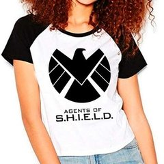 Camiseta Agents Of Shield Marvel Raglan Babylook