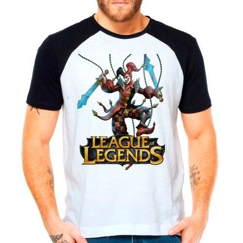 Camiseta Raglan League Of Legends Shaco Lol Jungler